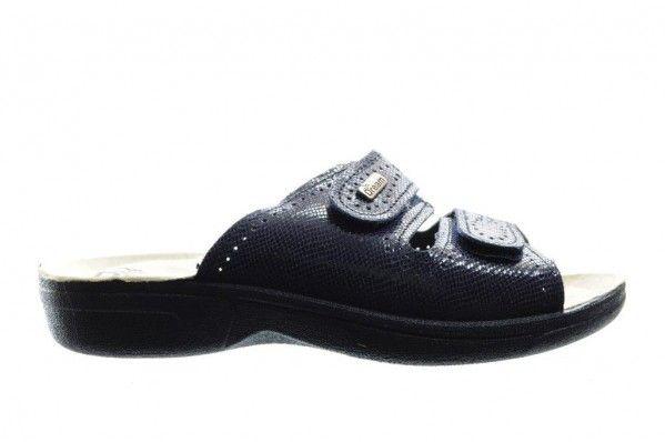 Blauwe Instap Slipper Met Velcro
