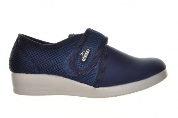 Fly Flot  Blauwe Lycra Gesloten Pantoffel Met Velcro
