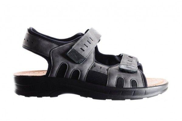 Grijze Sportieve Heren Sandaal Comfort