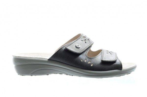 Taupe Slipper Met Velcro