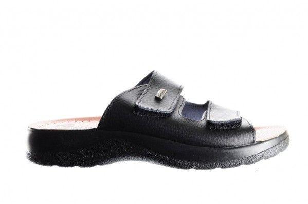Zwarte Slipper 2 Velcro Heren