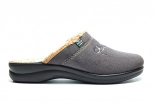 Antracite Pantoffel Warm Fly Flot