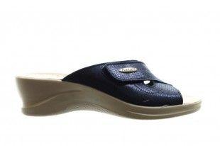 Blauwe Slipper Met Velcro
