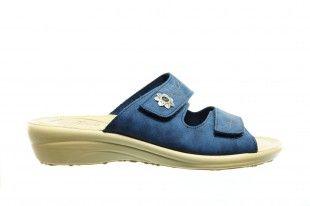 Fly Flot Blauw Velcro Slipper