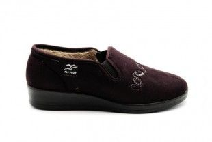 Fly Flot Dames Pantoffels Bordeaux Warm