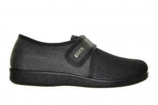 Zwarte Gesloten Pantoffel Velcro Fly Flot