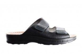 Zwarte Slipper 2 Velcro
